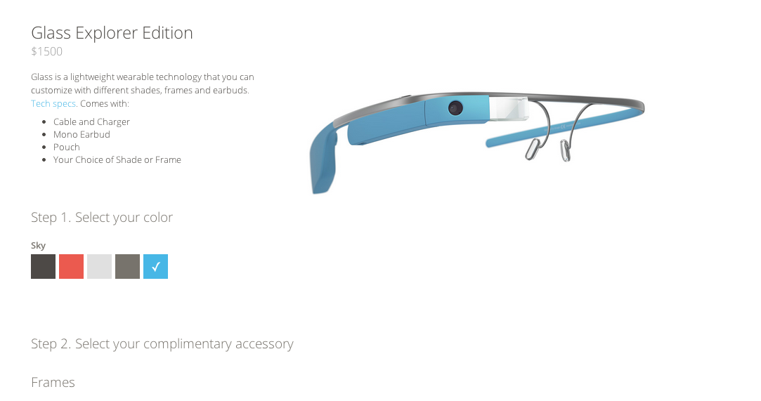 Google Glass purchase site