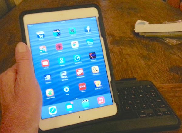 Rugged Folio for the  iPad mini in hand