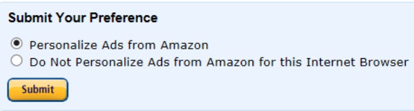 Personalised ads