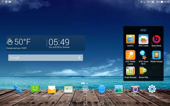 PadFone X Station AT&T apps