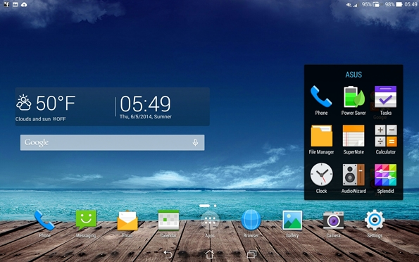 PadFone X Station ASUS apps
