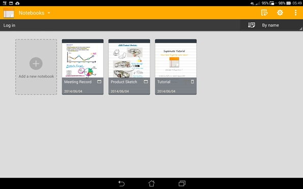 ASUS SuperNote app