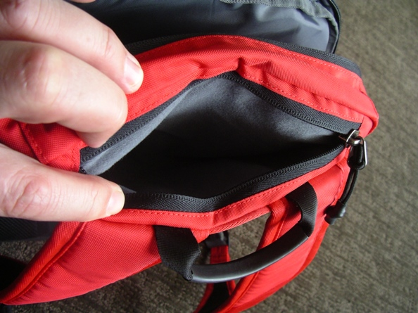 Upper plush-lined pocket