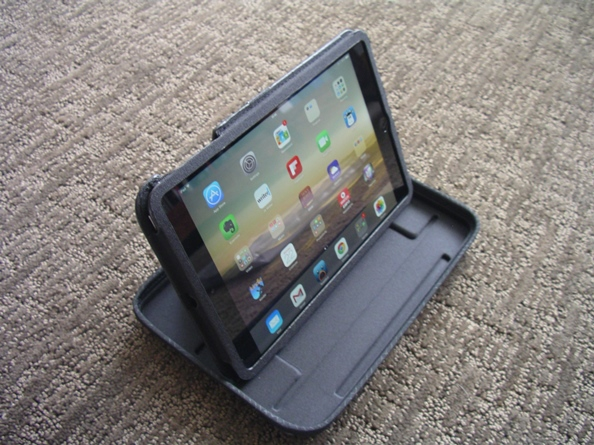 iPad Mini propped up in the QuickFlip