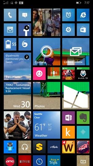 Windows Phone 8.1 and Lumia Cyan on a Nokia Lumia 1520