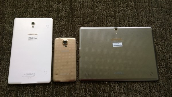 Galaxy Tab S 8.4, S5 smartphone, and Tab S 10.5