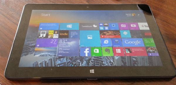 Venue 11 Pro tablet screen