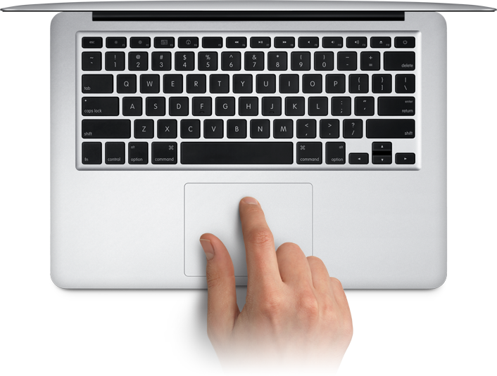 Essential touch gestures for the MacBook trackpad
