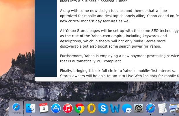 """""""Handoff"""" from iPhone, iPad"""