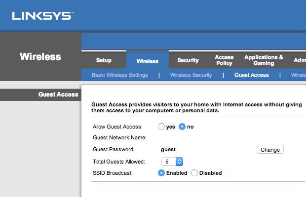 Disable guest access