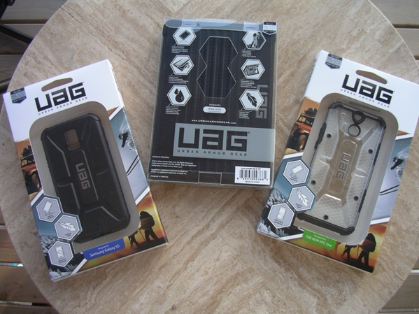 Three Urban Armor Gear cases