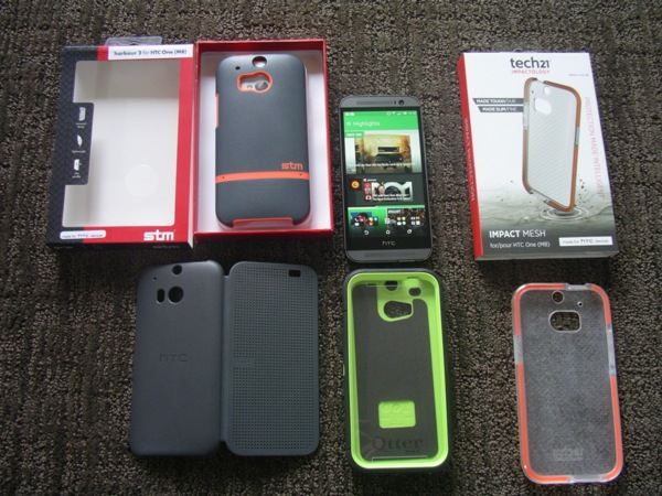 Four case options for the new HTC One (M8)
