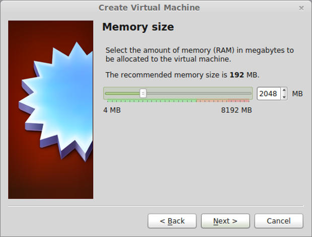 Setting the XP VM's memory