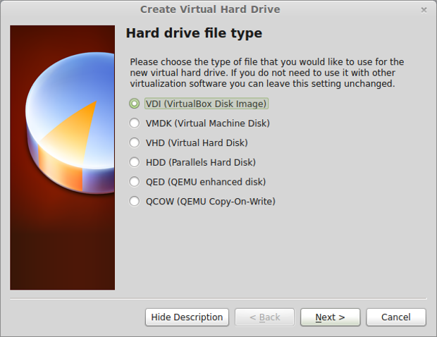 Picking out your virtual hard disk type