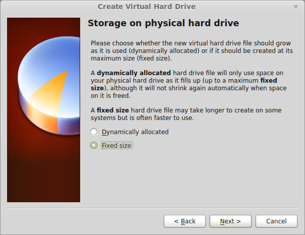 Deciding between a static or dynamic virtual hard drive
