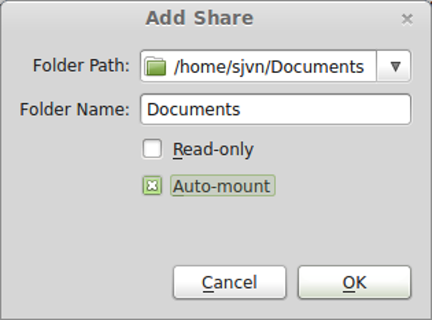 Sharing directories between Linux and XP