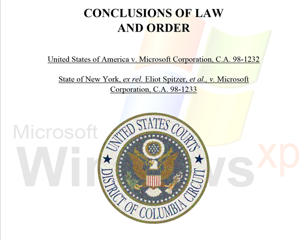 2000: The antitrust trial sets the background