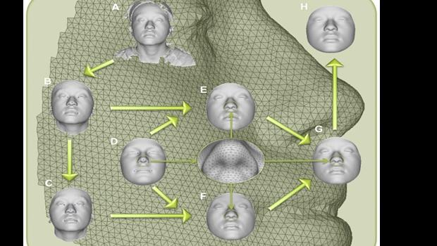 3D mugshots from DNA