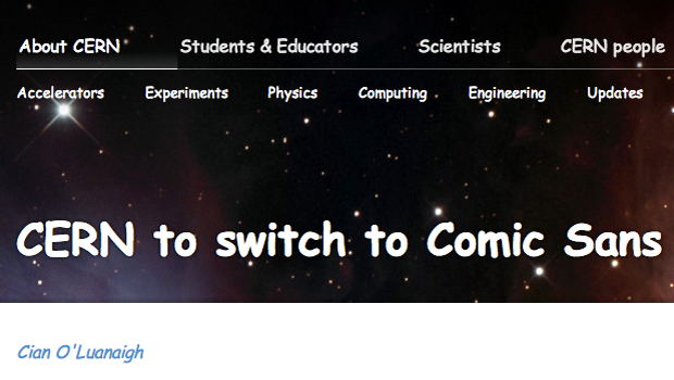 CERN dumbs down