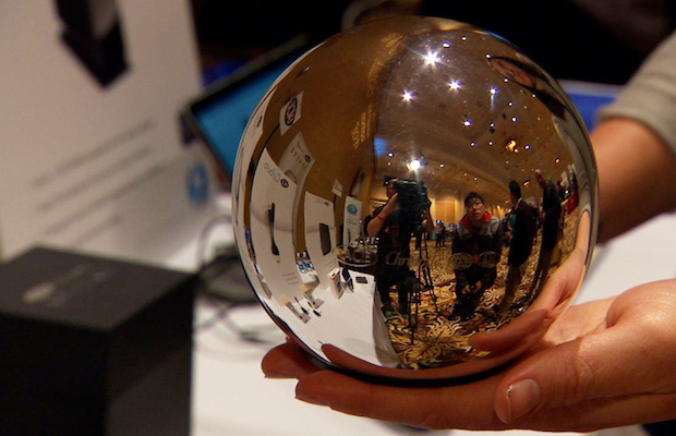 LaCie's mirrored, sphere hard drive. 'Because we could'