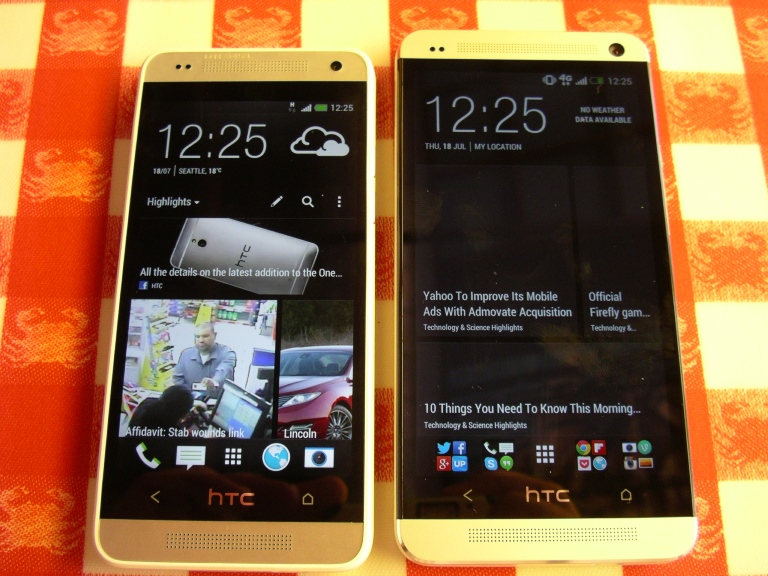 HTC One Mini and One side-by-side