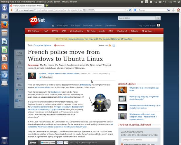 Firefox is still Ubuntu 13.10 default Web browser.