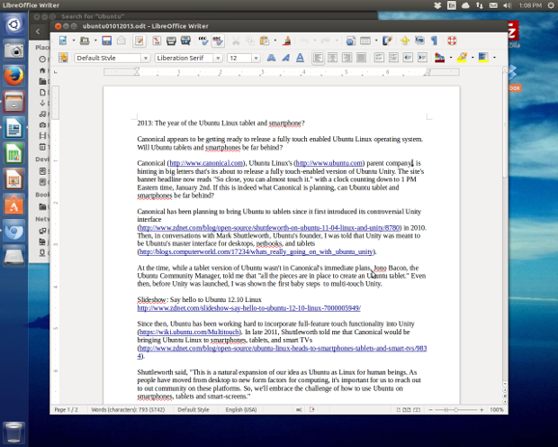 Ubuntu uses LibreOffice for its office suite.