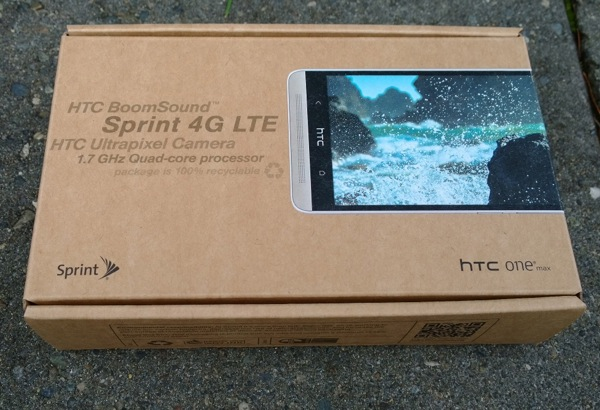 Sprint HTC One Max retail package