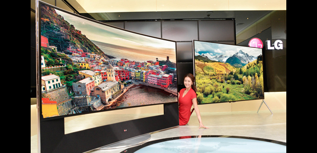 CES 2014: LG's 105UC9 105-inch curved ultra HD TV