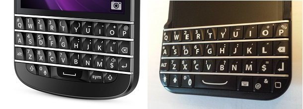 The BlackBerry keyboard
