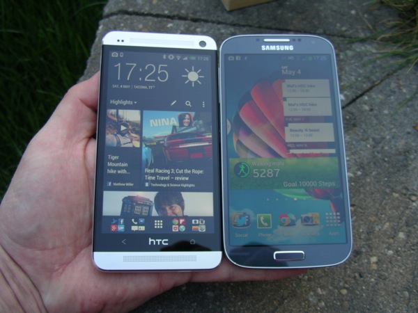 Front of the HTC One and S4