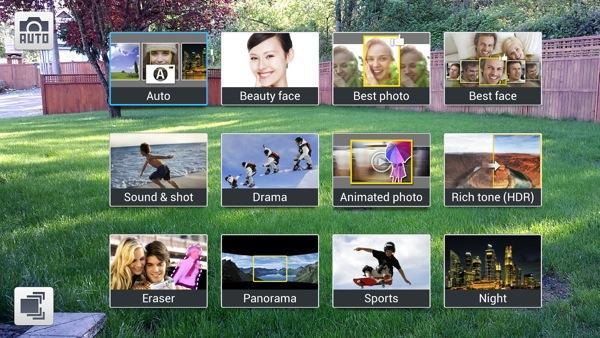 Camera app options