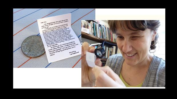 Order snail mail: miniature messages