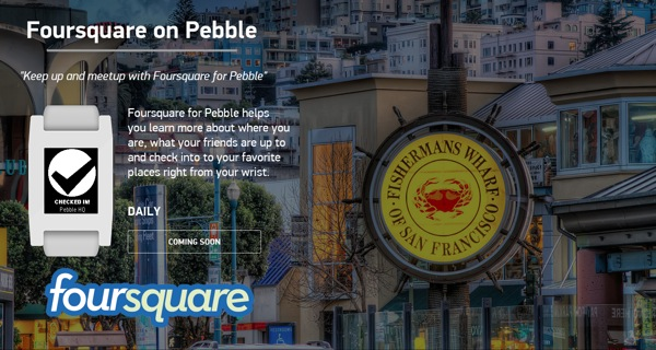 Foursquare Pebble app