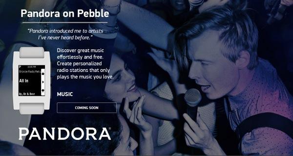 Pandora on Pebble