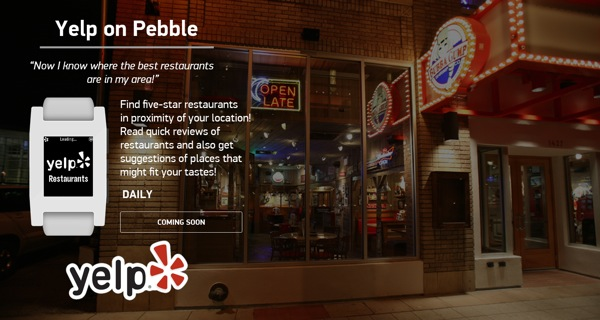 Yelp on Pebble
