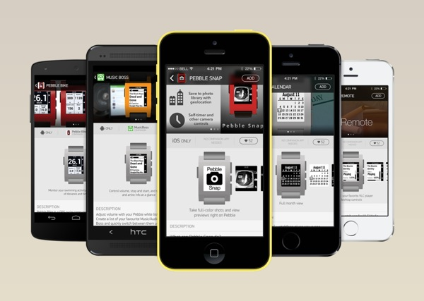 Various apps are coming to the Pebble Appstore