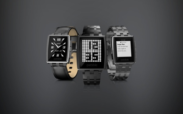 New Pebble Steel watch