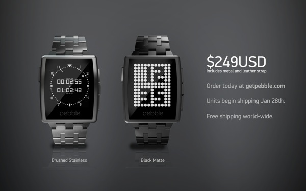 Order a Pebble Steel now
