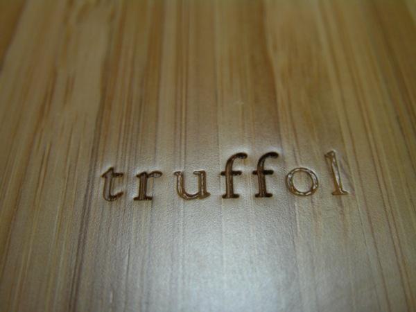 Truffol branding on lower back