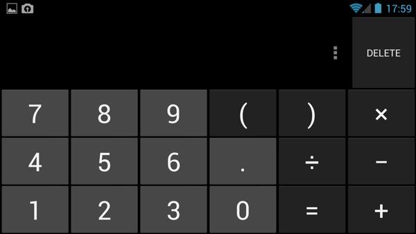 Calculator on Google Edition One