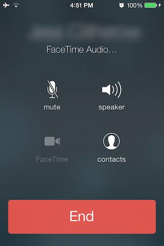 FaceTime audio