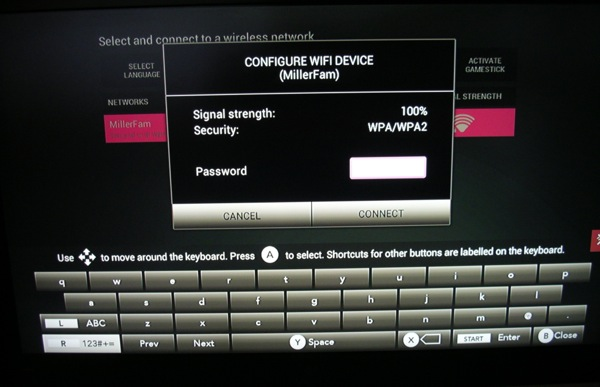 Setting up the system on my TV