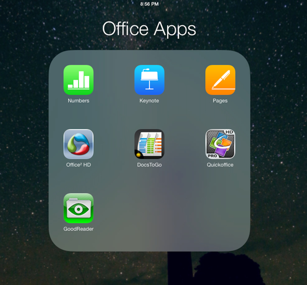 5 good office apps for the iPad