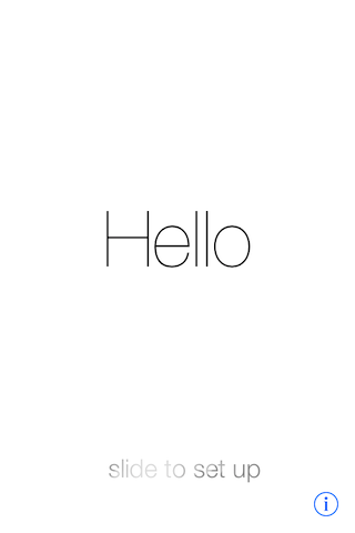 The first thing you see after installing iOS 7