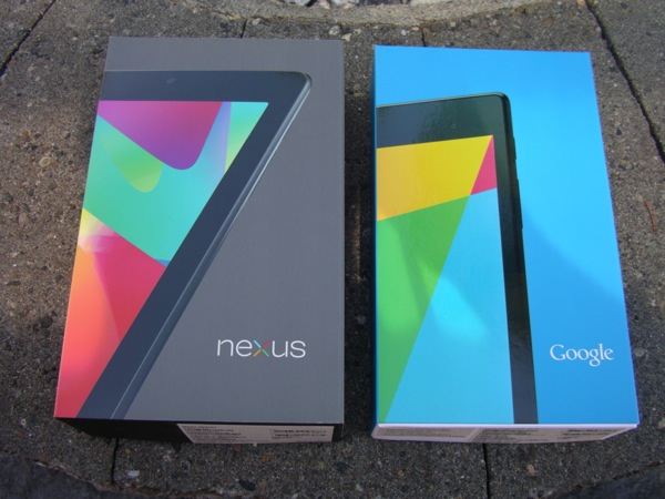 Two Nexus 7 retail boxes