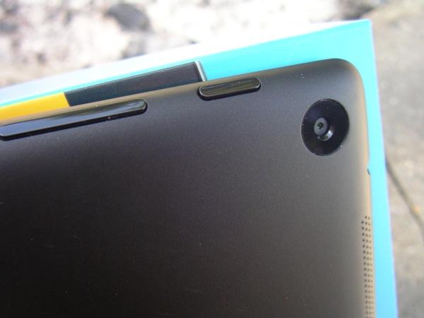 Camera, power button, and volume button on Nexus 7