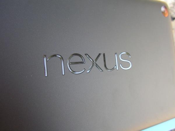 Back of the Nexus 7 with Nexus logo