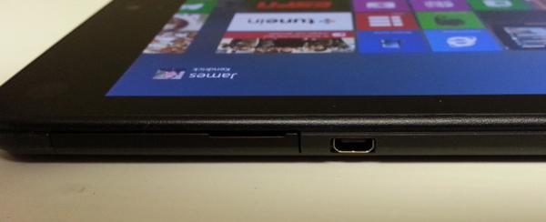 ThinkPad Tablet 8 left side