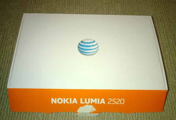 Retail AT&T packing for the Lumia 2520